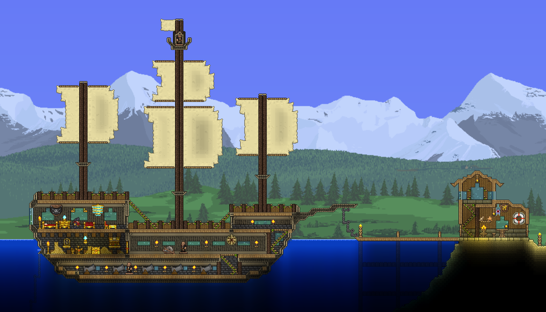 pirate ship terreria build